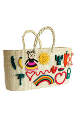 Patches Tote Bag in White thumbnail