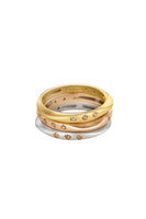HALO Stackable Ring in Yellow Gold with Champagne Diamonds thumbnail