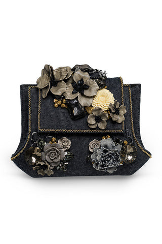 JABBERWOCKY Clutch in Denim