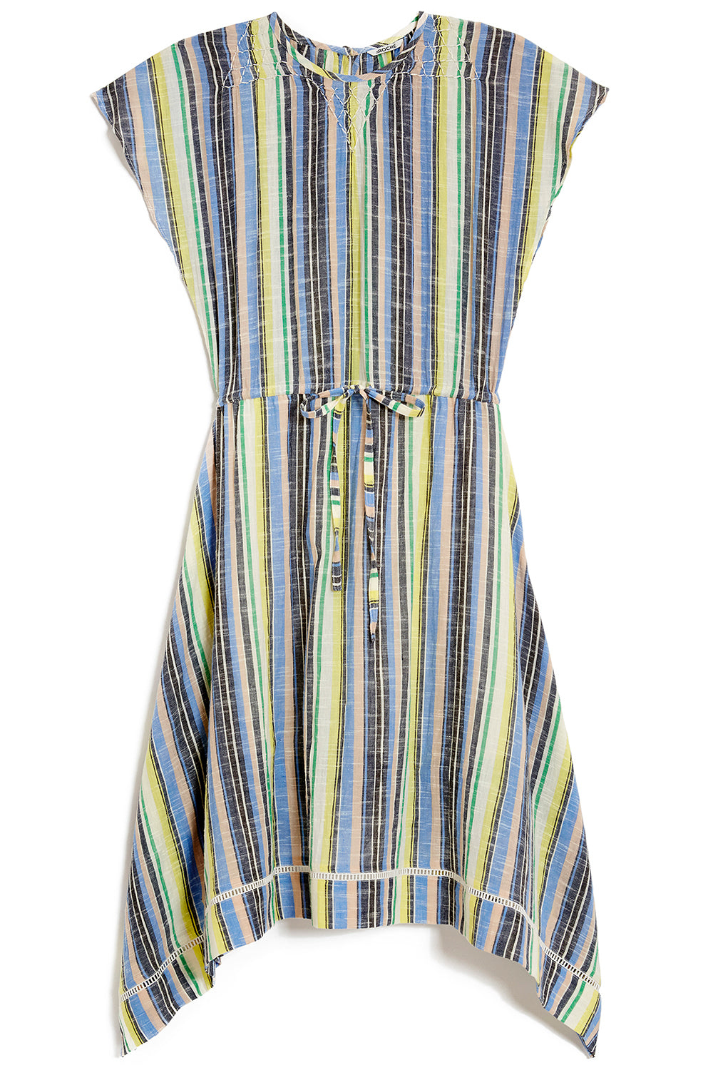 Monterey Dress in Multicolored Stripes