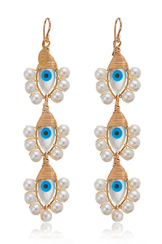 Evil Eye Lolita Trio Earrings