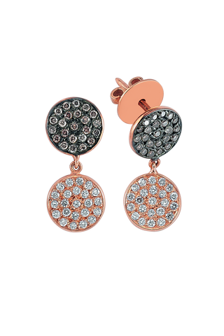 Polka Earrings in Pink Gold