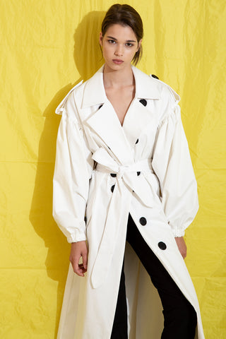 White Trench in White