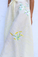Jacmel Midi Cream Lilly Embroidered Linen Dress thumbnail