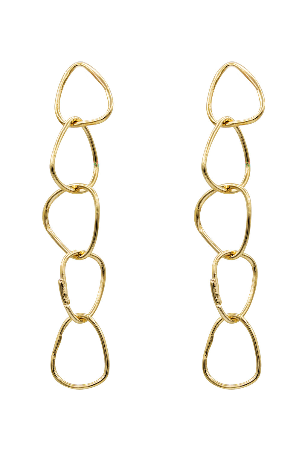Tiny Five Gold Drop Earrings