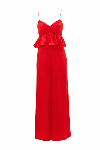 The Liz Jumpsuit in Red