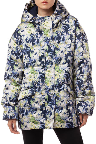 Emlyn Blurred Floral Parka in Acid