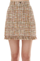 Luann Tweed Skirt in Neutral Lurex thumbnail