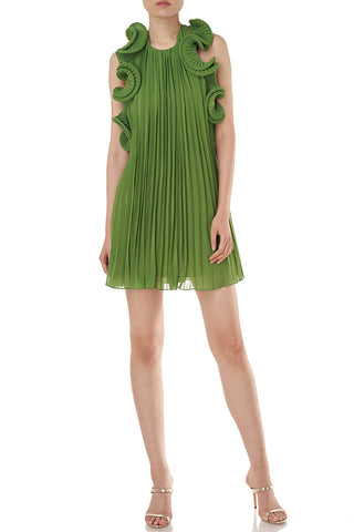 Mimi Dress in Grass Green
