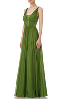 Adele Gown Dress in Grass Green thumbnail
