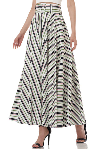 Morgan Skirt in Stripe