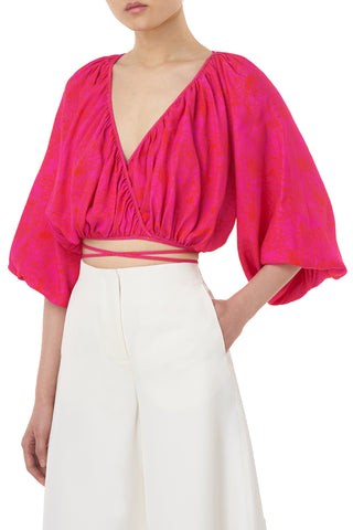Miki Top in Fuschsia