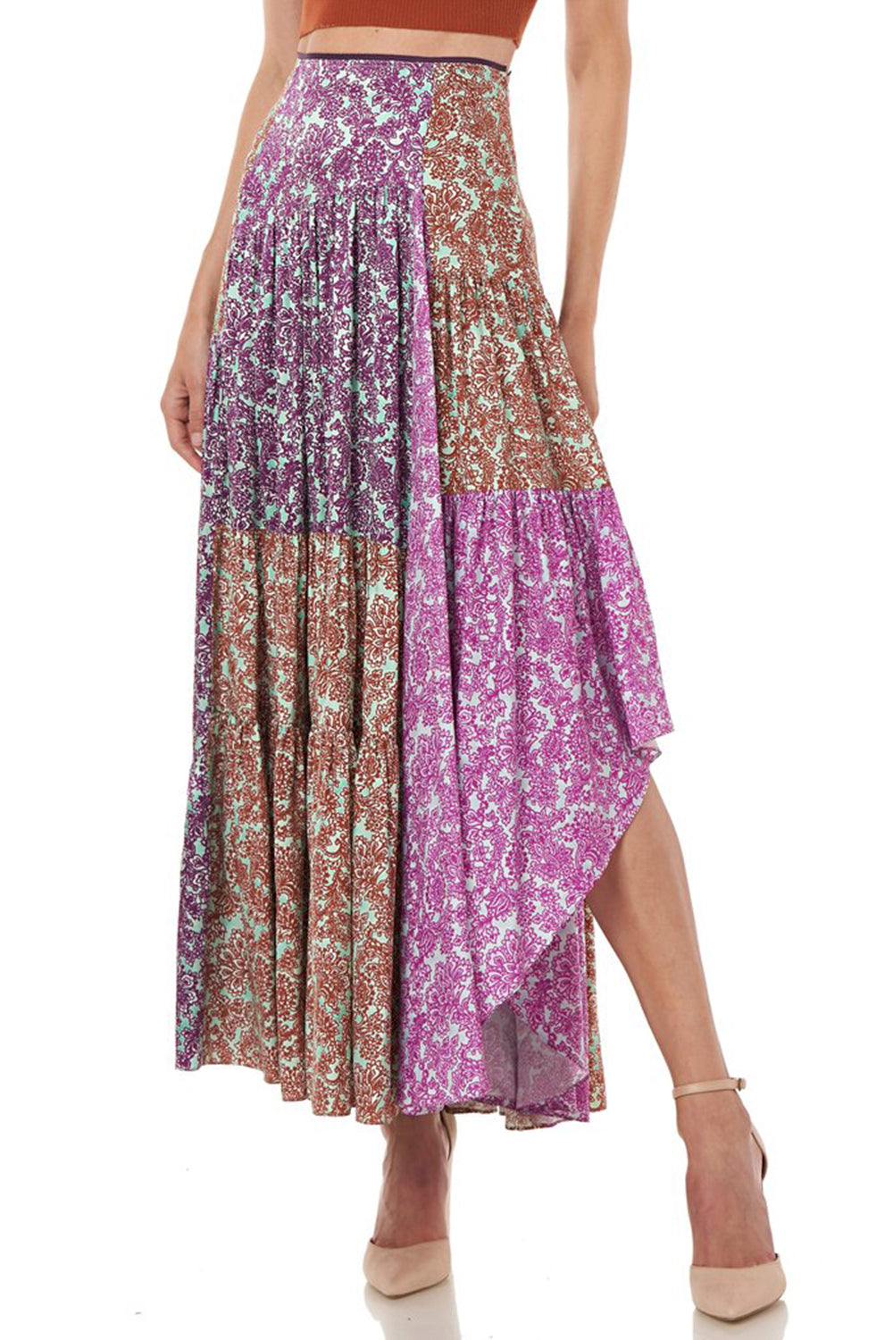 Scout Skirt in Multi Purple Print