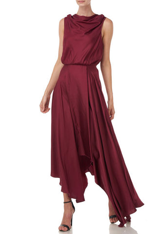Nakita Dress in Burgundy