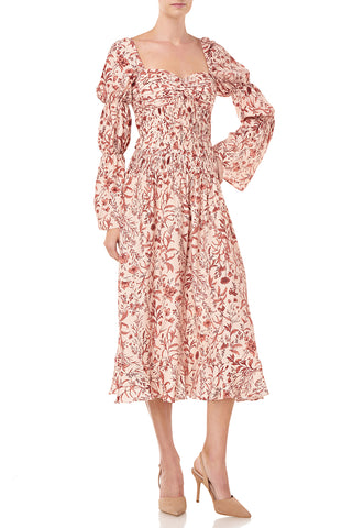 Filipa Dress in Blush Wildflowers