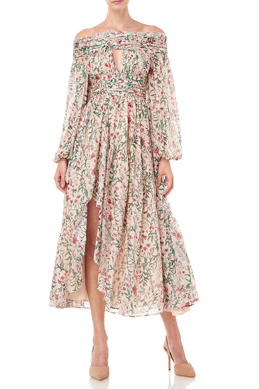 Daria Dress in in Blush Multi Wildflowers