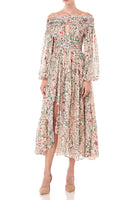 Daria Dress in in Blush Multi Wildflowers thumbnail
