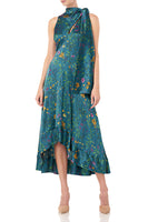 Georgia Dress in Teal Multi Wildflowers thumbnail