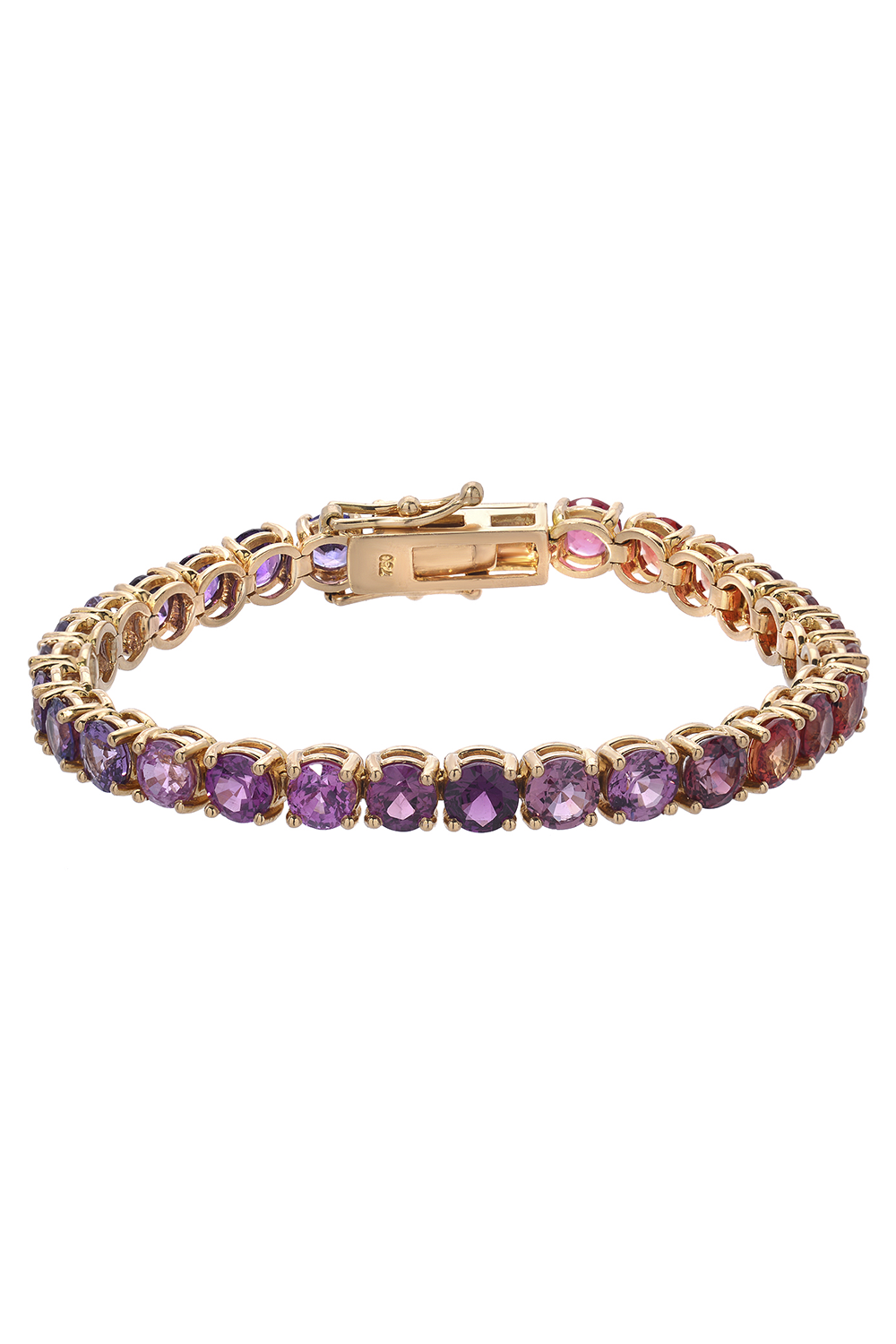 Sequenced Sapphires Ping Pong Bracelet in Pink & Purple