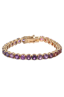 Sequenced Sapphires Ping Pong Bracelet in Pink & Purple thumbnail