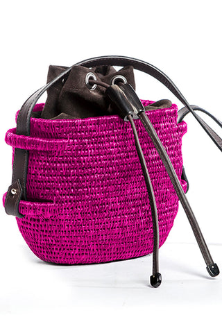 Thembi Bucket Bag in Hot Pink