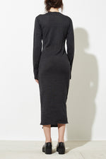 Han Knit Dress in Charcoal Grey thumbnail
