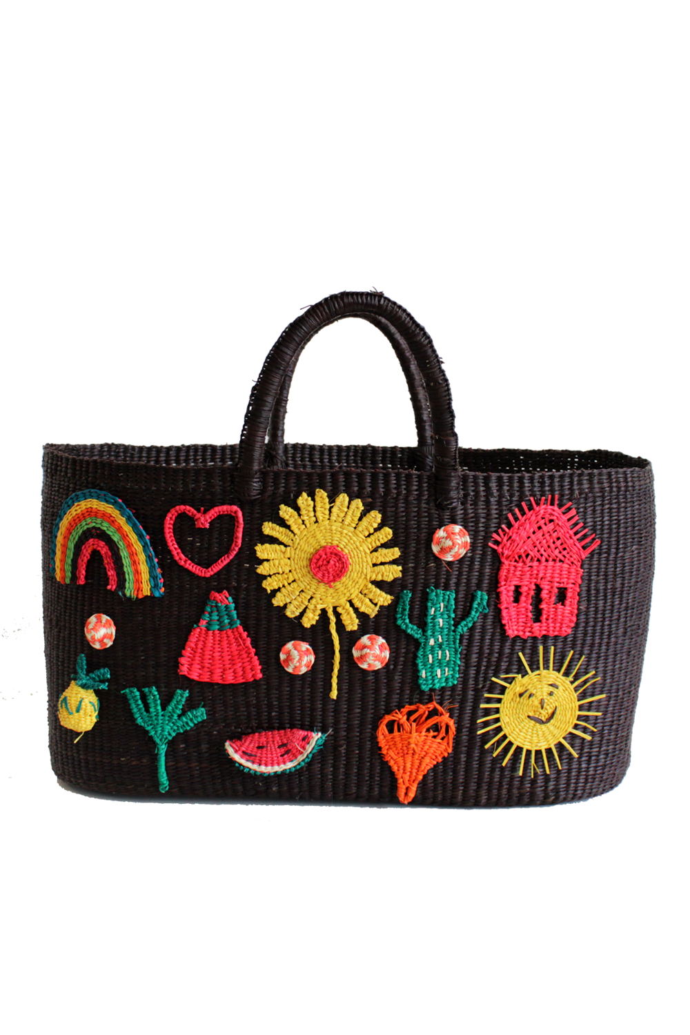Patches Tote Bag in Black