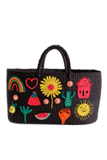 Patches Tote Bag in Black thumbnail