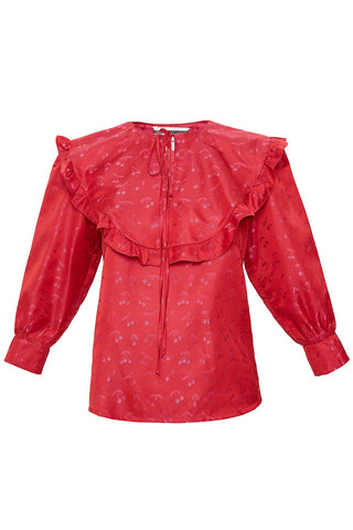 Ruffled Blouse in Pink