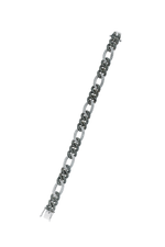 14K Black Gold Chain Bracelet with White & Champagne Diamonds thumbnail
