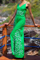 Lavale Embroidered 2 Piece Pants Set in Green thumbnail