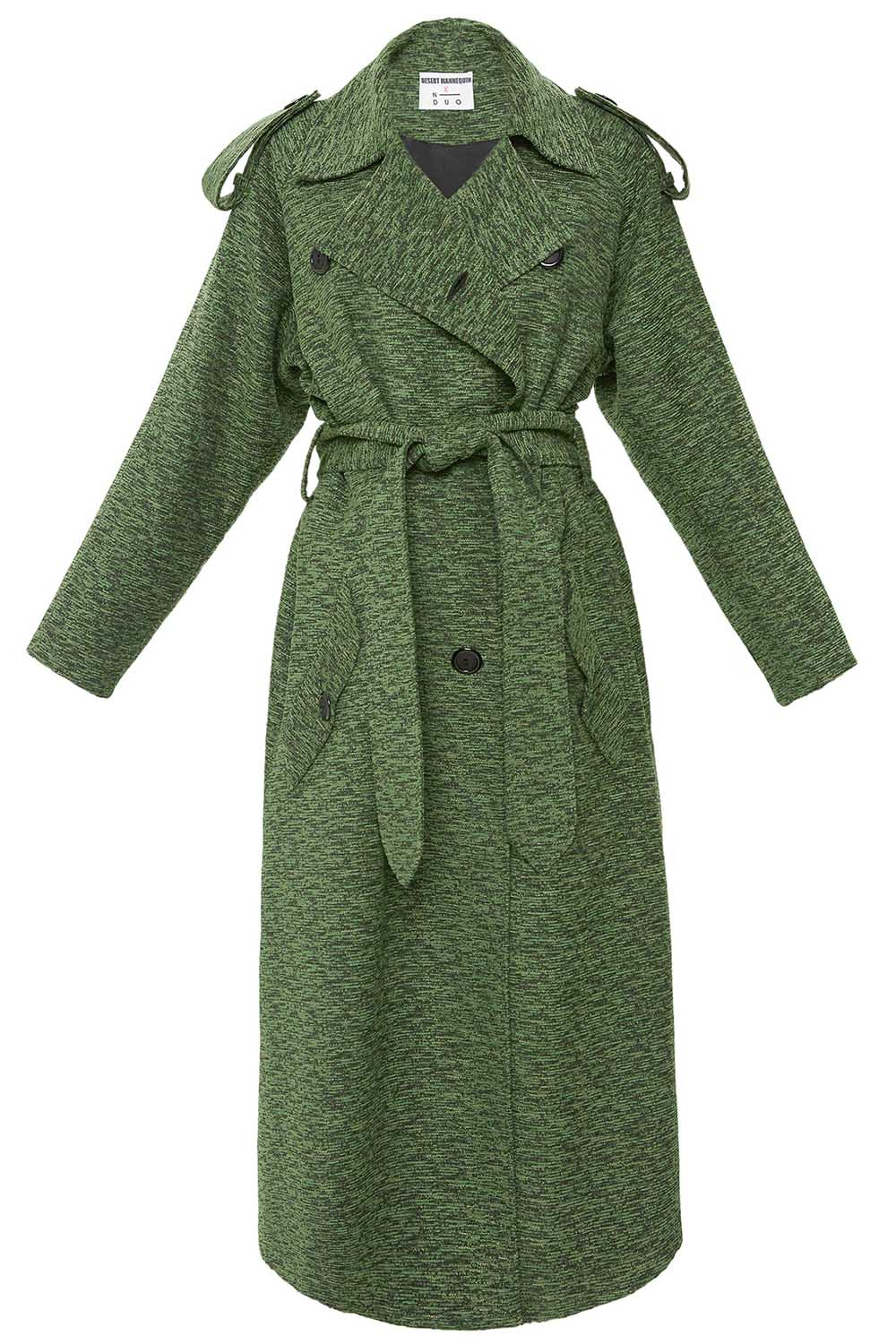 Belted Trench in Green