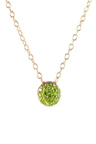 August Birthstone Dot Pendant