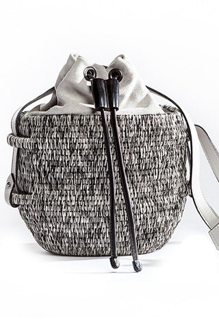 Thembi Bucket Bag in Black & White