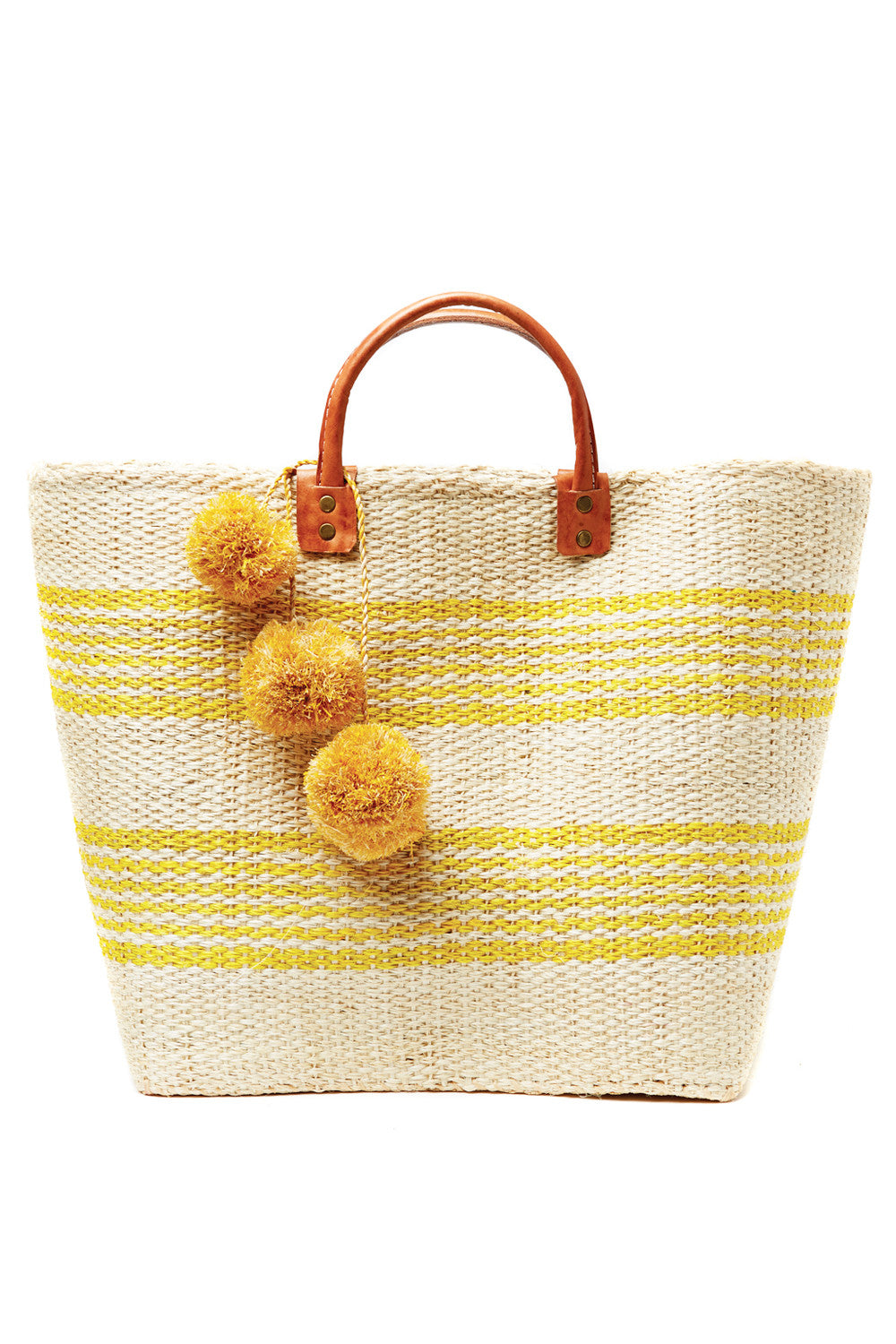 Caracas Basket Tote in Sunflower