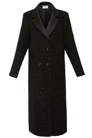 Starry Night Coat in Black