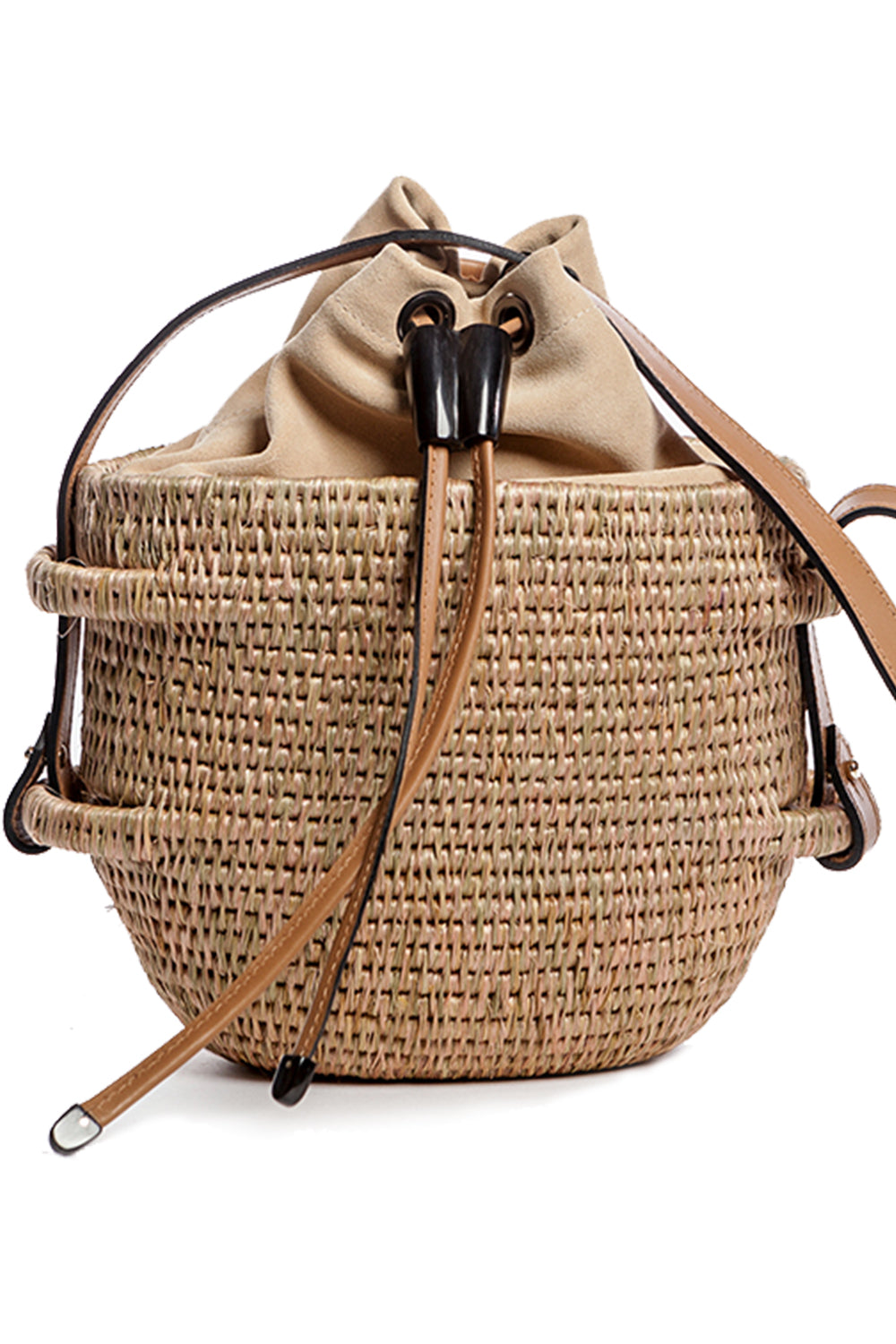 Thembi Bucket Bag in Smoke & Blush
