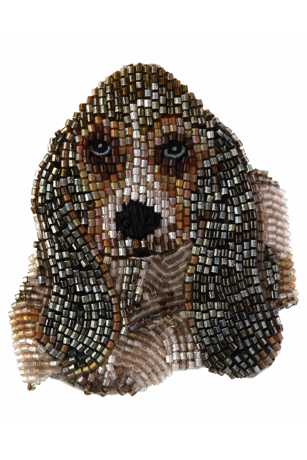 Dog Brooch in Basset Hound