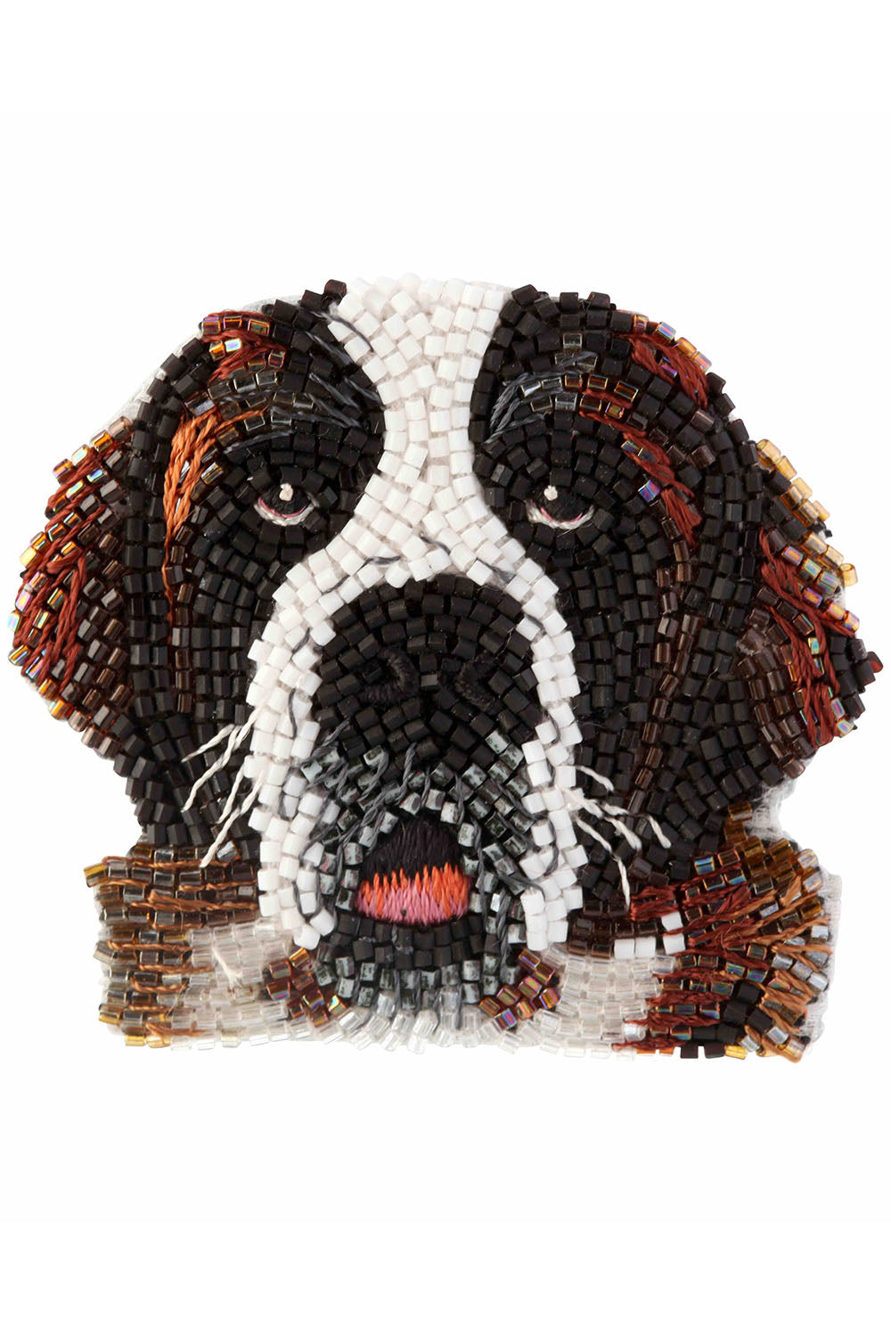 Dog Brooch in St Bernard