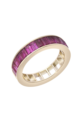 50/50 Ring with Rubies