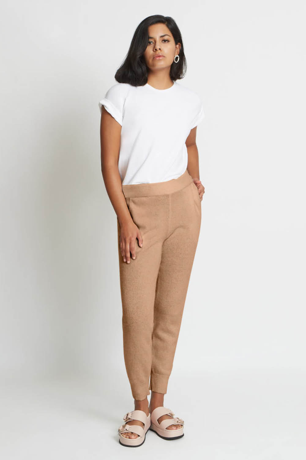 Addison Track Pant in Caramel