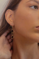Tiny Five Gold Drop Earrings thumbnail