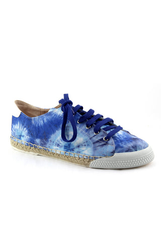 Amanda Sneaker in Electric Blue Tie Dye