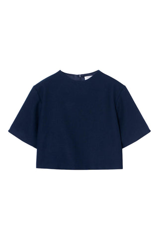 Ara Crop Top in Blue