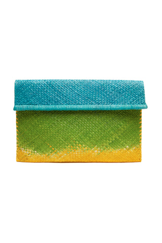 Ariel Ocean Apple Sunflower Woven Clutch