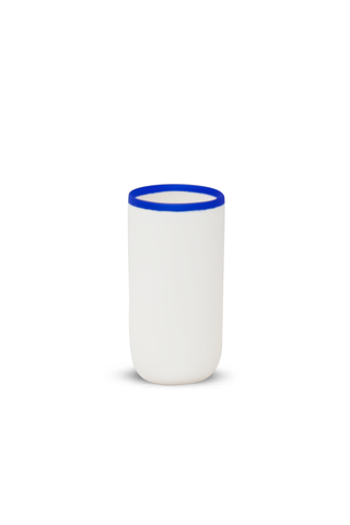 Tall Cup with Blue Rim