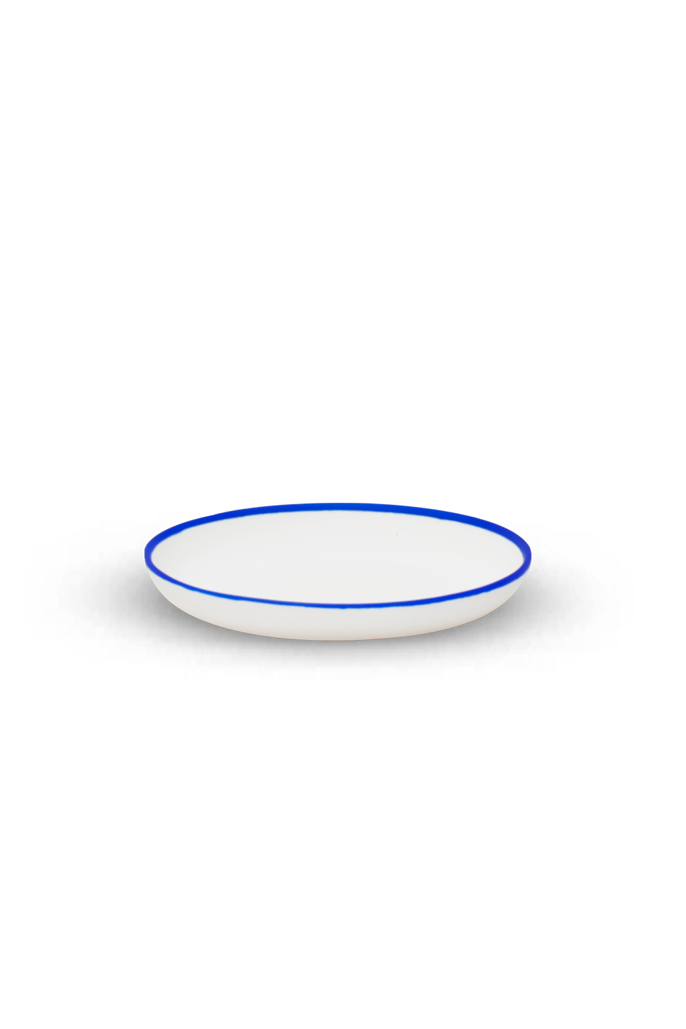 Salad Plate with Blue Rim
