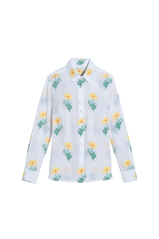 Beatrice Blouse in Yellow Poppy