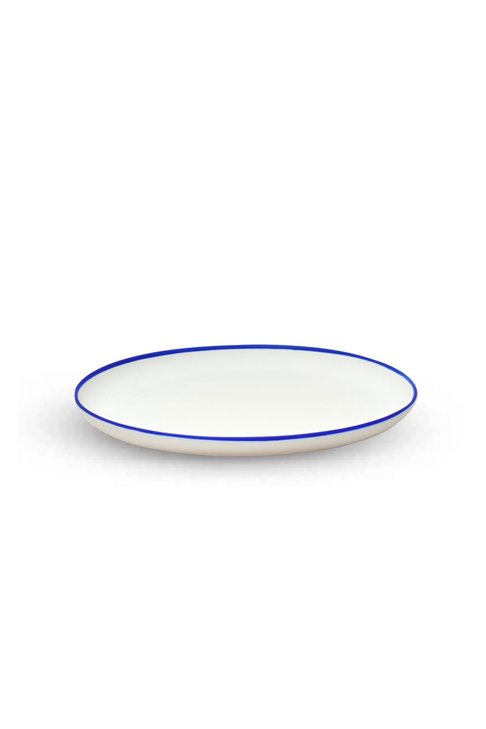 Serving Tray with Blue Rim