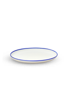 Serving Tray with Blue Rim thumbnail